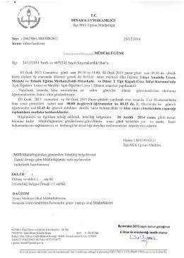Görevlendirme - Dinar İlçe Milli Eğitim Müdürlüğü