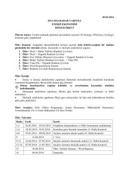 05.03.2014 2013-2014 BAHAR YARIYILI ENERJİ