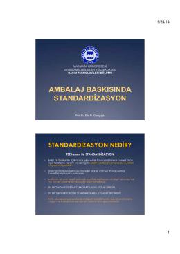 Ambalaj Baskısında Standardizasyon