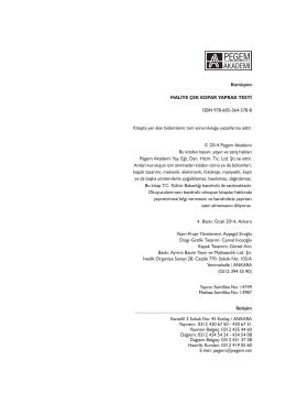Komisyon MALİYE ÇEK KOPAR YAPRAK TESTİ ISBN