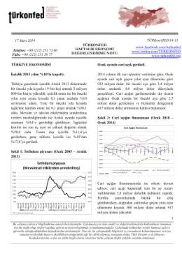 Haftalık Ekonomi Değerlendirme Raporu – 17.03.2014