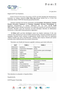 GCIP-Türkiye 2014 Yarı Final Etkinlik Programı √ 14 Ekim 2014
