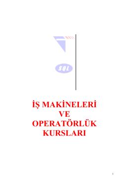 đş makđnelerđ ve operatörlük kursları