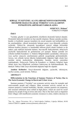 SOMUNCU, Mehmet-KIRSAL VE KENTSEL ALANLARDAKİ