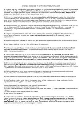 2015 hakem vize talimatı - Türkiye Karate Federasyonu