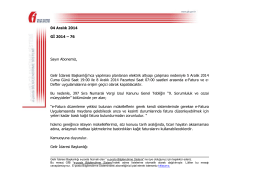 04 Aralık 2014 Gİ 2014 – 76 Sayın Abonemiz, Gelir İdaresi
