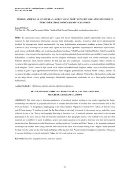 türkiye, amerika ve avusturyada görev yapan öğretmenlerin okul