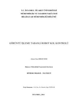 Proje sonuç raporunun özet bir sürümü için tıklayınız. [*.PDF, 501KB]