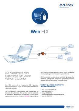 Bilgi broşürü: Web EDI
