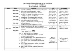 Eğitim Bilimleri Fakültesi - Uyum Koordinatörlüğü