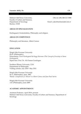 CV (İndirme : 1) - Akademik ve Blog Sistemi Mehmet Akif Ersoy