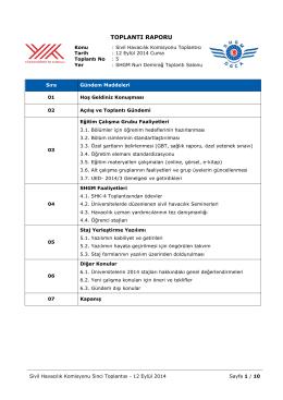 toplantı raporu - Sivil Havacılık Genel Müdürlüğü