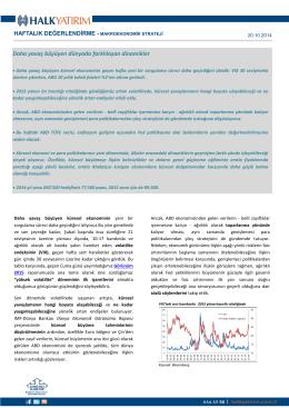 haftalık makroekonomik strateji