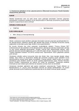 Uluslararası Şirketlerin Ar-Ge Laboratuvarlarının