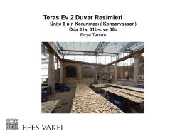 EFES Yamaç Ev 2 Duvar Resimleri Konservasyon Çalışmaları