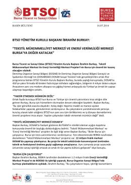 DOSAB İftari BTSO Başkanı İbrahim Burkay