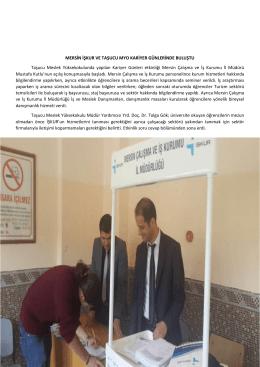 Mersin İşkur ve Silifke-Taşucu Meslek Yüksekokulu Kariyer