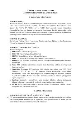 türkiye futbol federasyonu futbol geliştirme merkezi