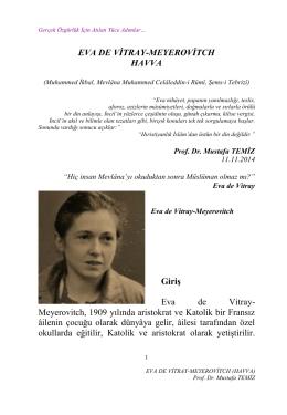 Eva De Vitray-Meyerovitch (Havva) (pdf)