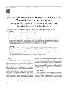 Fakolitik Glokomda Görülen Hiperkromatik Kristallerin Mikroskopik