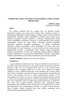 communication matter in expanding cities after migration