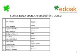 dosyayı indir - Edirne Doğa Sporları Kulübü