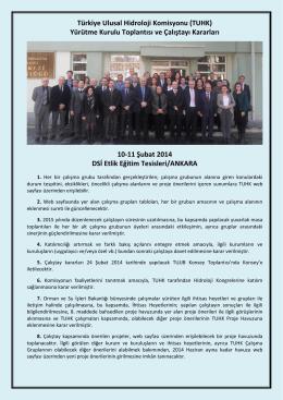 Toplantı Kararları - Devlet Su İşleri Genel Müdürlüğü
