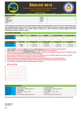 transfer formu - Ekoloji | 2014