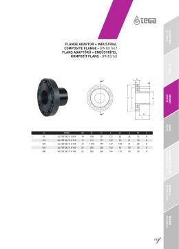 flanş adaptörü + endüstriyel kompozit flanş