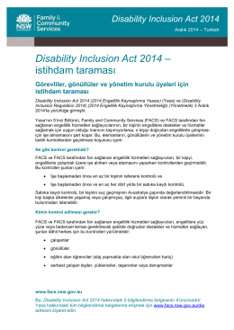 DIA fact sheet 4 - employment screening - Turkish
