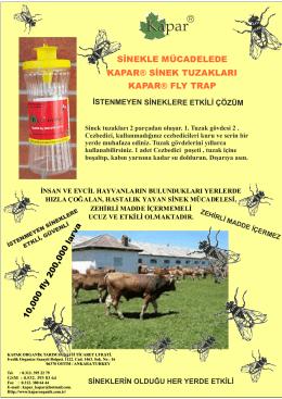 Sinek tuzakları - Kapar Organik Tarım