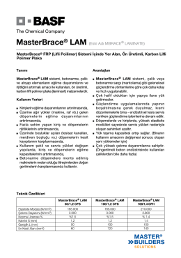 MasterBrace® LAM (Eski Adı MBRACE® LAMINATE