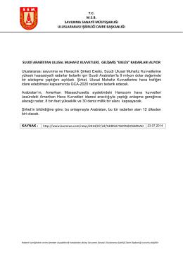 tcmsb savunma sanayii müsteşarlığı uluslararası işbirliği daire