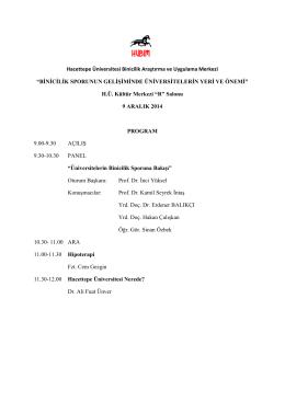 Panel Programı