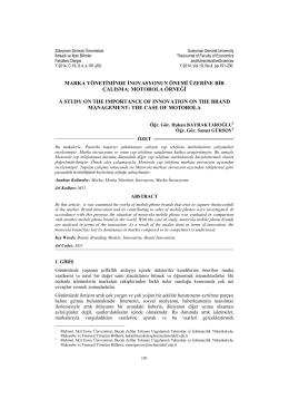 Motorola Örneği - Süleyman Demirel Üniversitesi