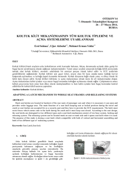 Koltuk Kilit Mekanizmasının Tüm Koltuk Tiplerine ve Açma