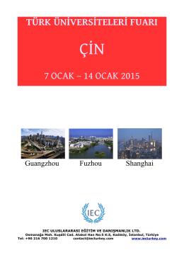 türk üniversiteleri fuarı 7 ocak – 14 ocak 2015