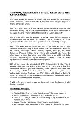 Sami BOYDAK, BOYDAK HOLDİNG / İSTİKBAL MOBİLYA