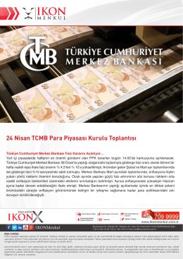 24 Nisan TCMB Para Piyasası Kurulu Toplantısı