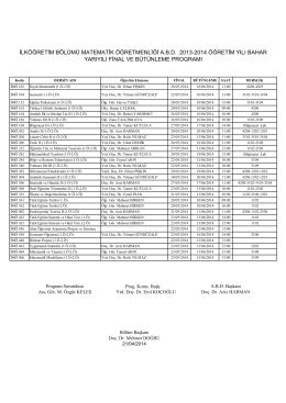 ilköğretim bölümü matematik öğretmenliği abd 2013