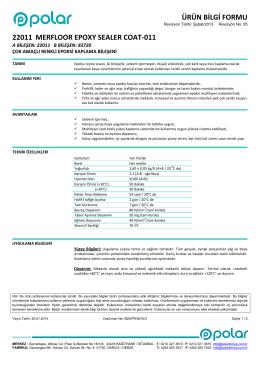 ÜRÜN BİLGİ FORMU 22011 MERFLOOR EPOXY SEALER COAT-011