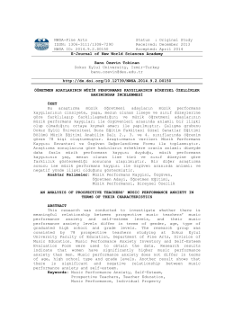 NWSA-Fine Arts Status : Original Study ISSN - E