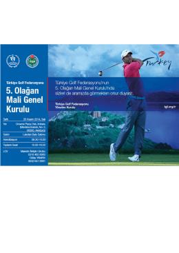 Duyuru - Türkiye Golf Federasyonu