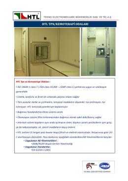 htl tpn/kemoterapi odaları - HTL