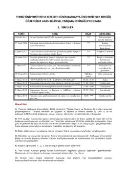 Tebriz Üniversitesiyle KÜNİB(Kafkasya Üniversiteler Birliği)