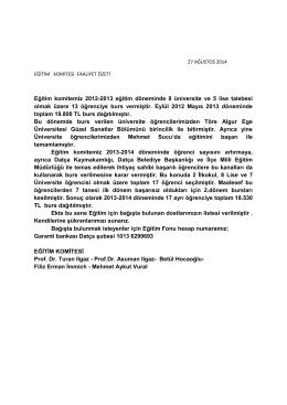 27.08.2014 2014 /6 egitim gönüllüleri