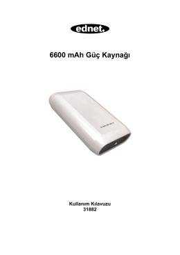 6600 mAh Güç Kaynağı