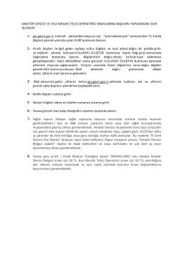 Amatör denizci belgesi ilk başvuru işlemleri