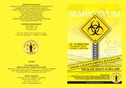 sempozyum - Sağlık Çalışanlarının Sağlığı