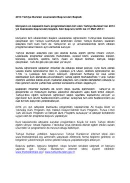 2014 Türkiye Bursları Lisansüstü Başvuruları Başladı Dünyanın en